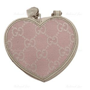 Authentic GUCCI Monogram Pink Heart Coin Purse